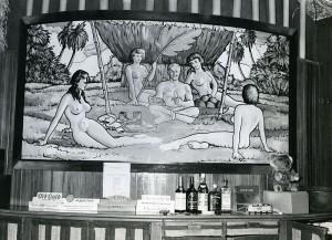 Officer's Club at Nendi Field, Viti Levu, Fiji Islands, August 1944